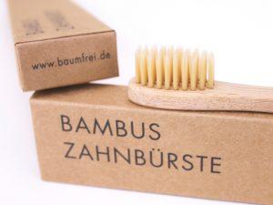 Borsten Bambus Zahnbürste baumfrei