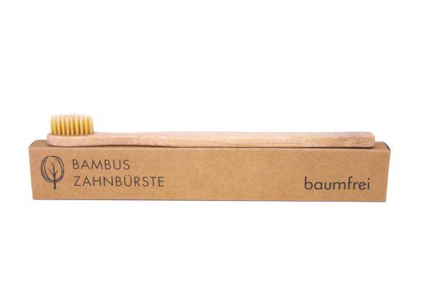 baumfrei Bambus Zahnbürste für Erwachsene