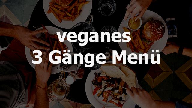 veganes 3 Gänge Menü - baumfrei.de - Beitragsbild