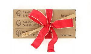 Bambus Zahnbürste als Geschenk - baumfrei