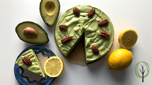 Avocado Cheesecake Rezept- baumfrei.de - Beitragsbild
