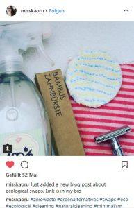 #Bambuszahnbürste - baumfrei.de - Pia Brouwers - Instagram misskaoru