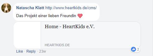 Spendenmöglichkeiten - baumfrei.de - Pia Brouwers - AB Heartkids