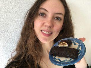 Vegane Snickers ohne weißen Zucker