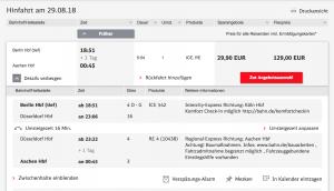günstig reisen mit der deutschen Bahn baumfrei
