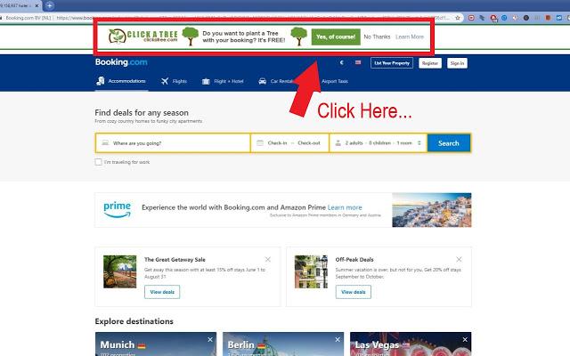 Bäume pflanzen mit der Click a Tree Browsererweiterung